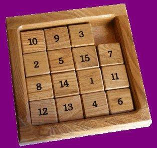Sliding-block 15 puzzle