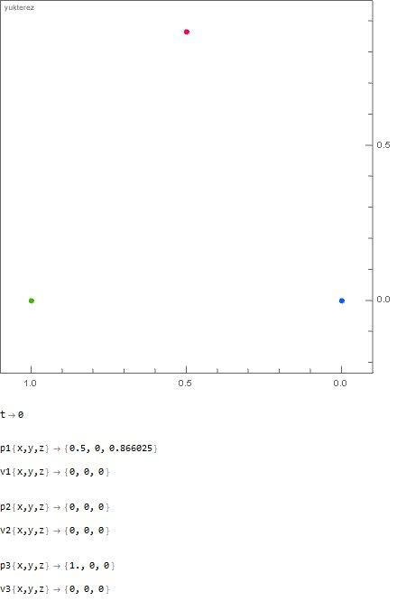 1000kg vs 666 kg vs 500 kg, initial distance: 1 meter